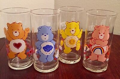Care Bears Glasses Vintage 1983 Pizza Hut Funshine Friend Cheer Grumpy MINT NEW
