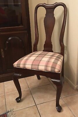 Ethan Allen Georgian Court Queen Anne Dining Room Table Chair Vintage Furniture