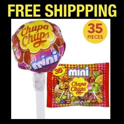 35 Mini Chupa Chups Best Lollipops Assorted Flavor Party Candy Halloween Lollies