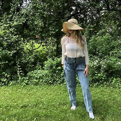Vintage 90s Acid wash High Waisted Jeans Mom Pleated Deadstock NWT 30/31