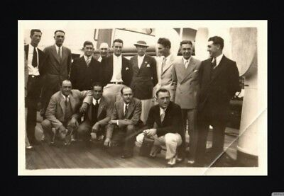 "1931 LOU GEHRIG "" Tour of Japan Ship"" TYPE 1 ORIGINAL Photo GROVE & COCHRANE"