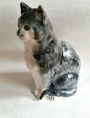 Vintage Cat Figurine - Toni Raymond, large sitting cat ornament, collectors cat