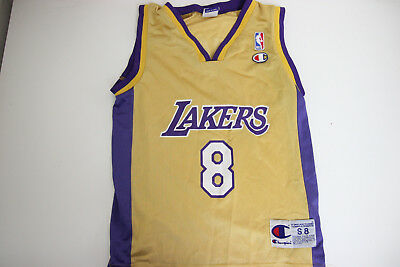 5cb2b13510c Vintage Champion Los Angeles Lakers Kobe Bryant  8 Jersey NBA Youth Small 8
