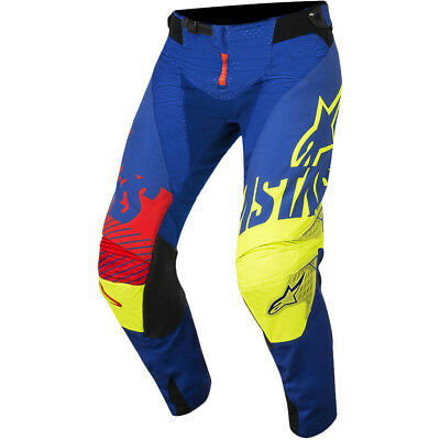 Alpinestars NEW Mx 2018 Techstar Screamer Blue Fluro Motocross Dirt Bike Pants
