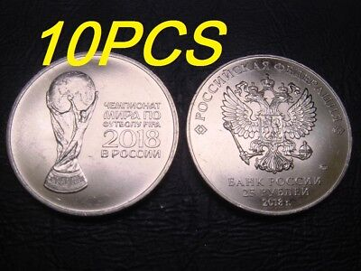 Football RUSSIA 3 X 25 ROUBLES 2018 COINS SET UNC FIFA World Championship