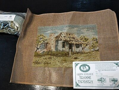 BRAND NEW QUEEN ADELAIDE Trammed TAPESTRY CANVAS & WOOL No. A62 Homestead