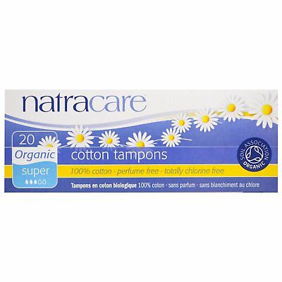 Natracare Organic Cotton Super 4 packs (x20) = 80 Tampons Perfume FREE NEW