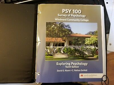 Exploring Psychology 10th edition by David G. Myers and C. Nathan DeWall