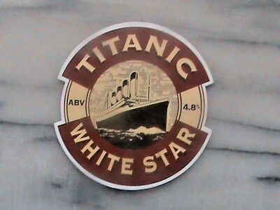 Titanic White Star Real Ale Beer Pump Clip Sign