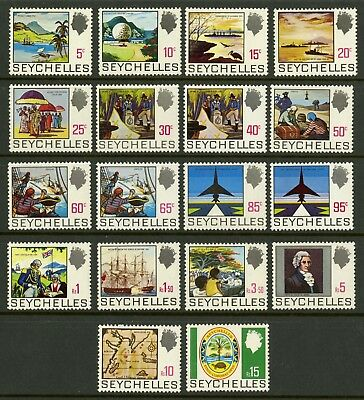 Seychelles  1969-72  Scott # 257-271  Mint Never Hinged Set
