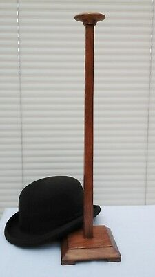 "Vintage Art Deco 22"" Wooden Hat Display Stand, Millinery Shop Display."