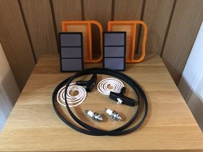 2 PACK STIHL TS410 Service Kit - Air Filter, Belt, handle, Rope, Plug TS410 (G4)