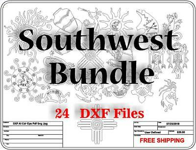 DXF CNC dxf for Plasma Southwest Bundle Spirit Bear Sun Kokapeli  Vector Art