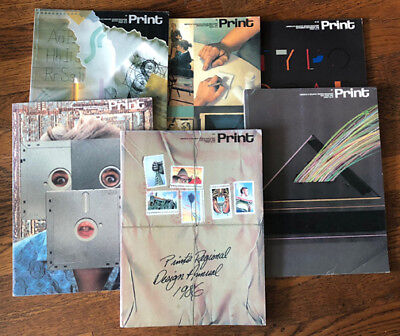 Print Graphic Design Magazine—1986 XL  All 6 issues