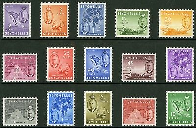 Seychelles  1952  Scott # 157-171  Mint Never Hinged Set