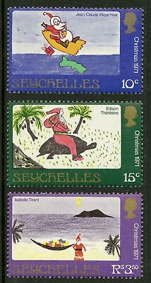 Seychelles  1971  Scott # 291-293  Mint Never Hinged Set