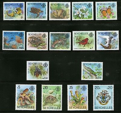 Seychelles  1977-91  Scott # 388-403  Mint Never Hinged Part Set