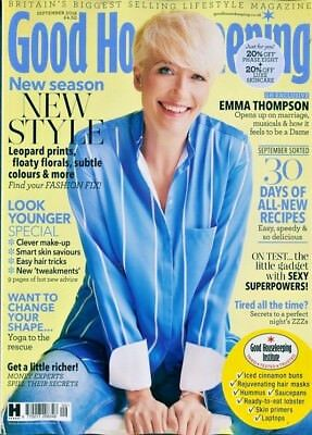 Good Housekeeping Magazine September 2018 ~ Emma Thompson Cover & Interview ~