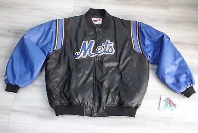 RARE New York Mets Baseball Authentic Majestic Athletic Puffer Jacket Adult XXL