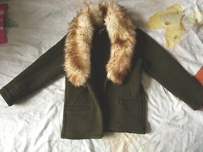 Khaki 23 Island Fur Girls Jacket Years Age 86 27 River Eur Faux Iq7wB