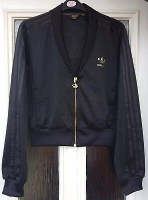 Niewiarygodnie RARE ADIDAS RESPECT Me Crown Missy Elliot Jacket -Black & Gold RE01