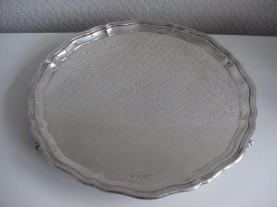 SUPERB LARGE STERLING SILVER SALVER TRAY London 1930 1284.8g