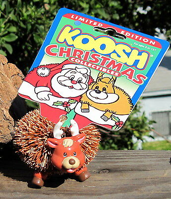 Vintage 1998 Koosh Christmas Collectibles Reindeer Figure MOC