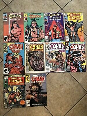 Marvel Comics Lot Of 10 Comics Featuring CONAN, What If, Annuals, Movie Specials
