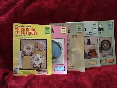 Lot Of 5  Antique Trader Price Guide to Antiques 1989