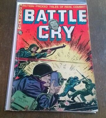 Battle Cry #14 GD/VG September 1954 Stanmor Publications Golden Age