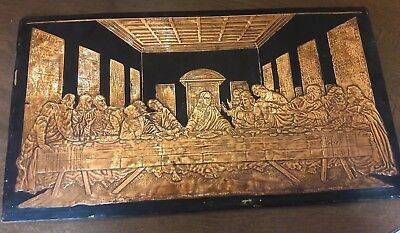 """Painting/Mural--""""Last Supper"""" in Hammered Copper"""