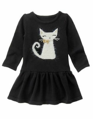 NWT Gymboree CATASTIC Black Cat Sweater Dress 6 12 18,2T,3T 4,5,12