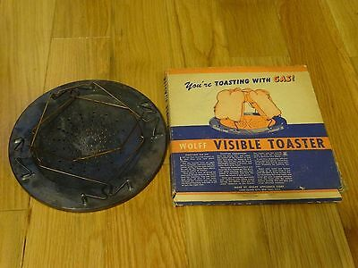 Vintage Wolff Appliance Co. Visible Toaster in box 1920? 1940?