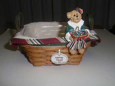 "Longaberger Exclusive, BOYD'S BEARS ""NOELLE HOLLYBEARY"" BASKET SITTER,  NEW!!!"