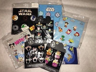 Disney TRADING PINS! 25 Pin Lot - Brand New Booster Sets -  WITH FREE LANYARD
