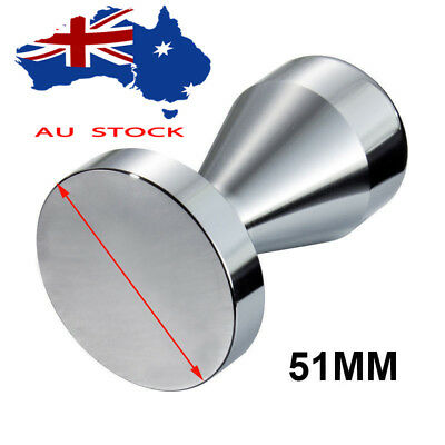 51MM  Coffee Tamper Stainless Steel Polished Tampa Tamp Espresso Barista AU Ship