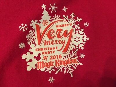 NWOT Disney Mickeys Very Merry Christmas Party 2016 size XL