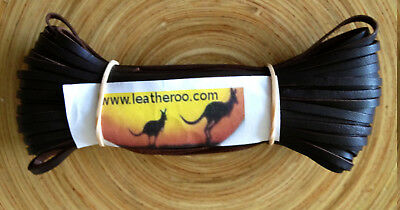 "Kangaroo Lace CHOCOLATE Kangaroo Leather Lacing (2.0mm 1/16"" Width) 10meter hank"
