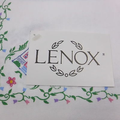 Lenox Cloth Napkins Village Pattern Set of 3 With Tags 100% Cotton Made in USA