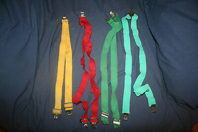 Lot Of 4 Assorted Vintage Collectible Suspenders