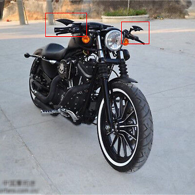 Motorcycle Black Blade Rear View Mirrors for Harley Cruiser Bobber Chopper New