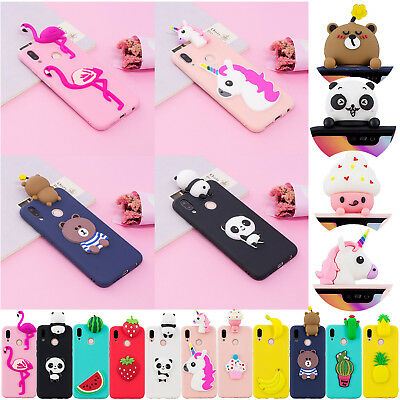 Cute Cartoon Silicone Case Phone Bumber Cover For Huawei Xiaomi Redmi S2 Note 4X