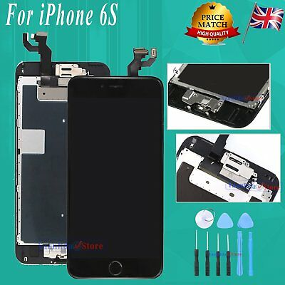 For iPhone 6S LCD Display Screen Touch Digitizer + Home Button Camera Black UK