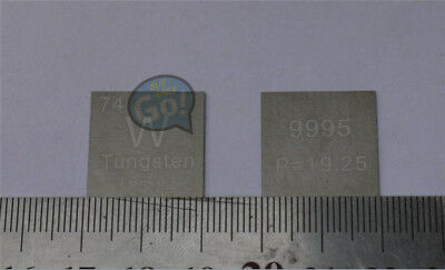 High Purity 99.95% Tungsten W Metal Carved Element Periodic Table 20mm flake NEW