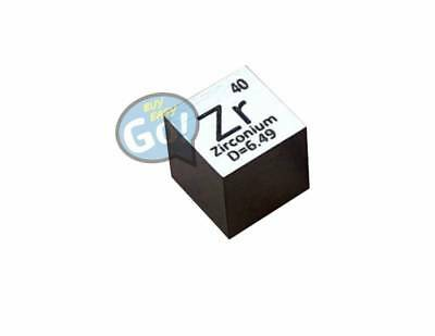 99.2% High Purity Zirconium  Metal ZR 6.44g 10mm Carved Element Periodic Table