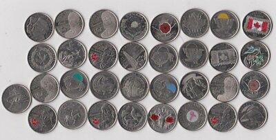 33x Canada Quarter 25 Cent Coin Poppy 50th Flag 150th - Stanley Cup 2017 - 1973