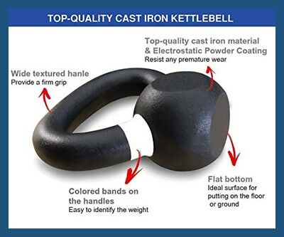36kg Classic Powder Coated Cast Iron Russian Style KettleBell
