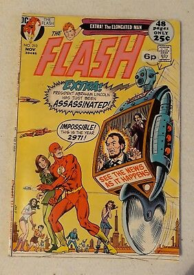 VG - FN 1971 THE FLASH Vol. 1 Issue #210 48 Pages BRONZE AGE