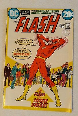 FN - VFN 1972 THE FLASH Vol. 1 Issue #218 BRONZE AGE