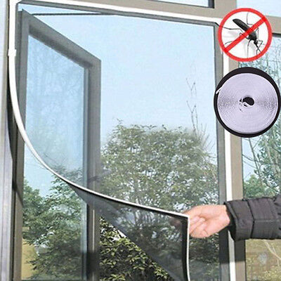 Insect Screen Window Netting Kit Fly Bug Wasp Mosquito Curtain Mesh Net Cover AU